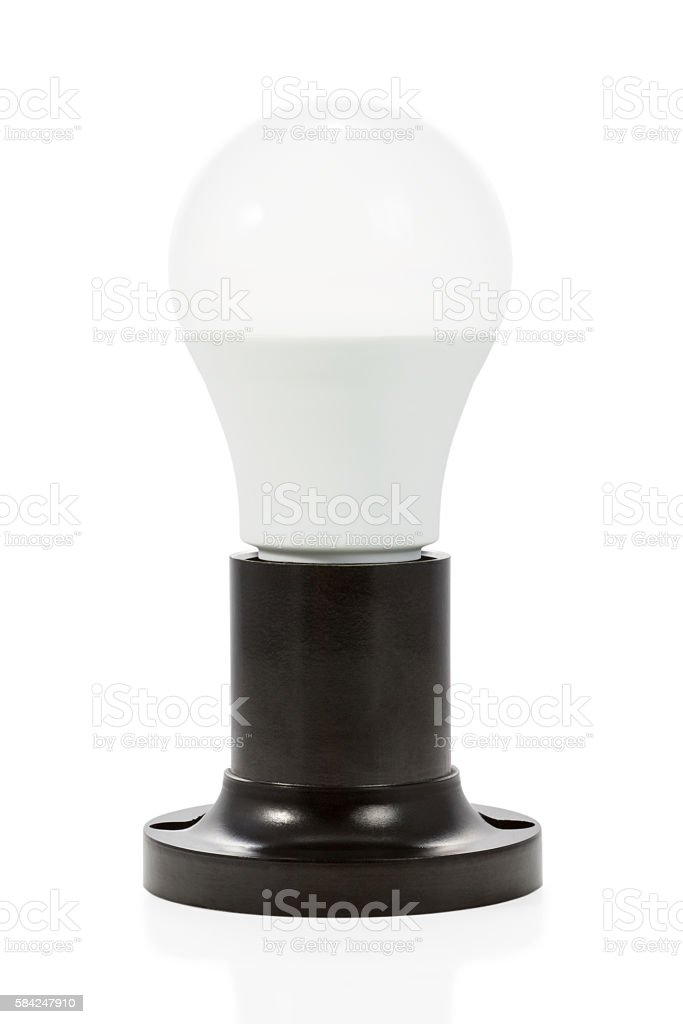 Black ceramic cartridge and lamp stock photo