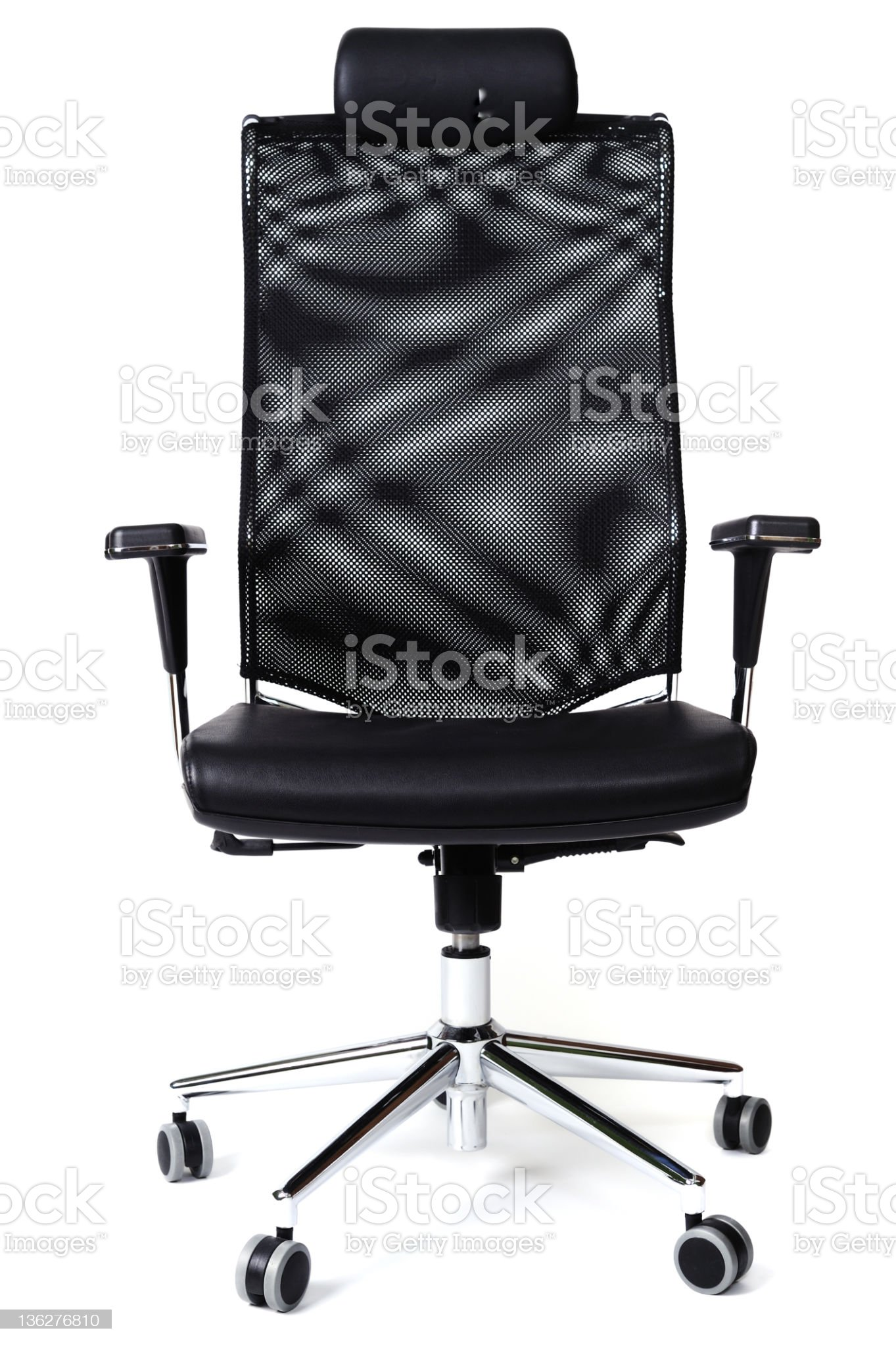 Black chair isolated on white royalty-free stock photo