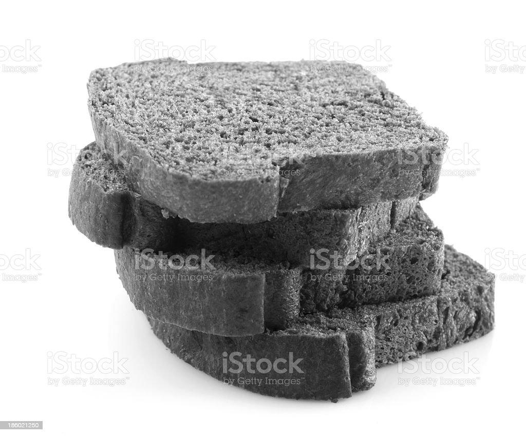 Black charcoal bread royalty-free stock photo
