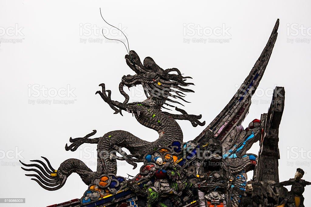 Black Chinese Dragon stock photo