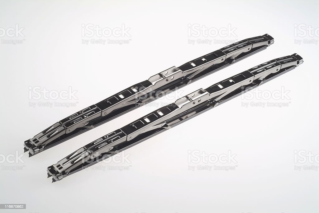 Black chrome windshield wipers royalty-free stock photo