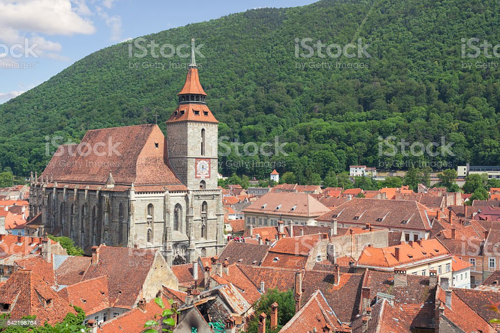 Black Church, Brasov stock photo