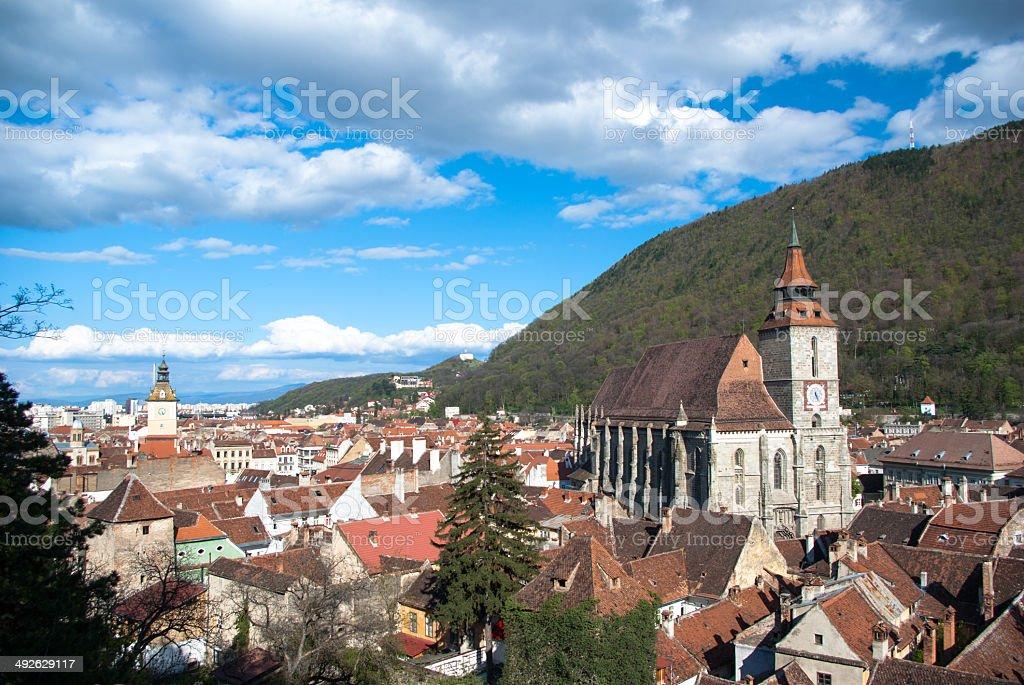 Black Church, Brasov, Romania stock photo