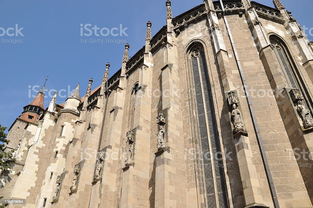 Black church in Brasov (Romania) stock photo