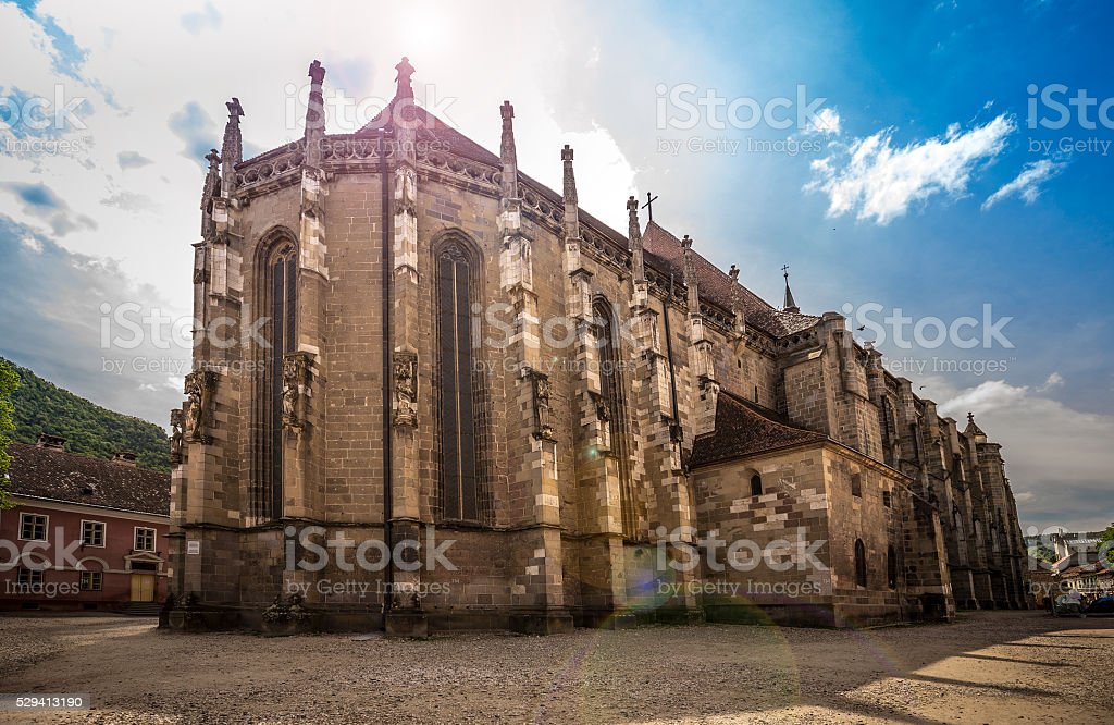 Black Church in Brasov stock photo