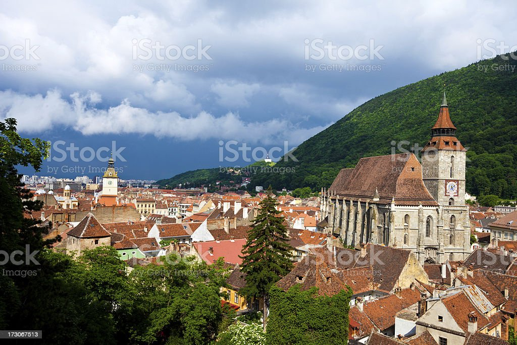 Black Church in Brasov, Romania stock photo