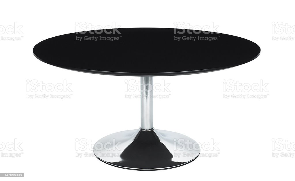 Black Circle Table stock photo