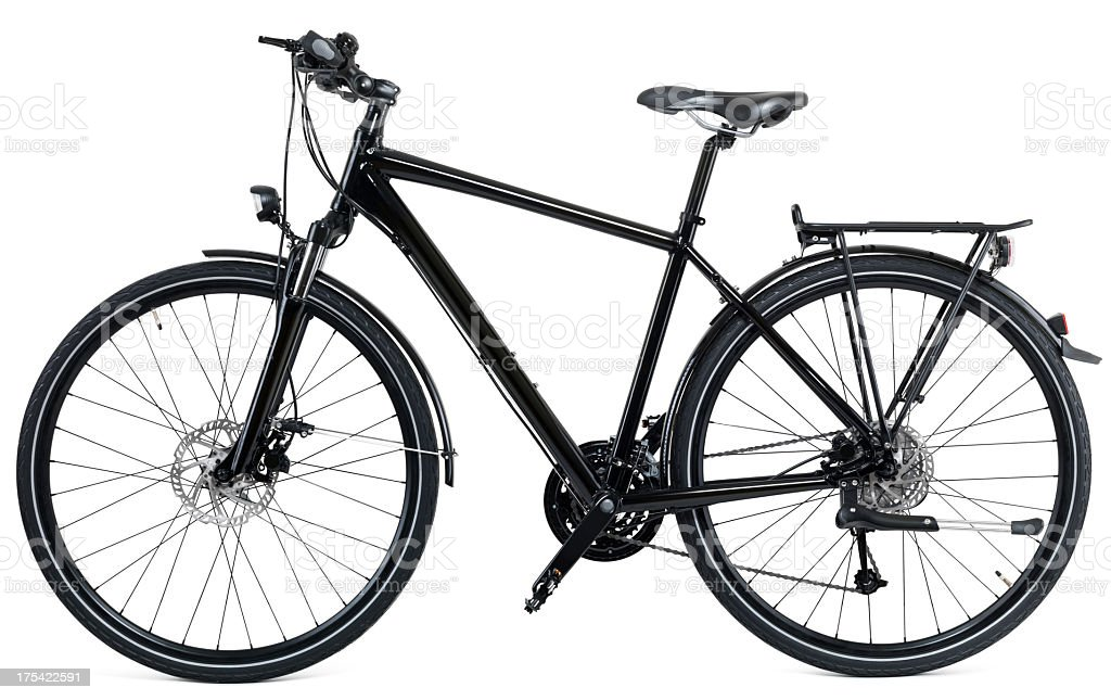 Black City Bike royalty-free stock photo