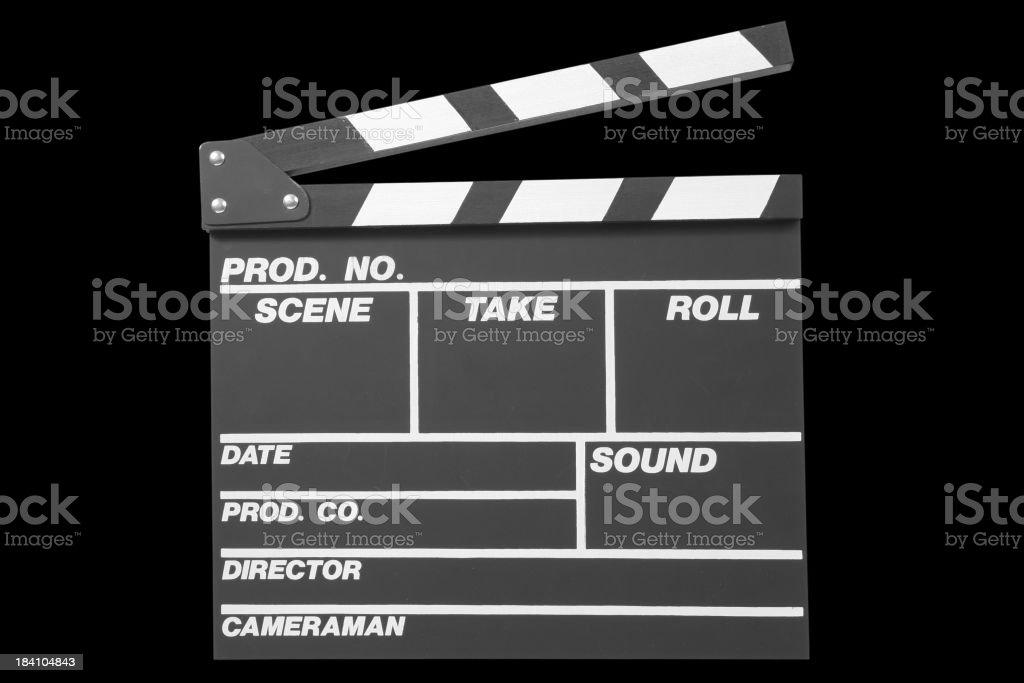 Black Clapperboard stock photo