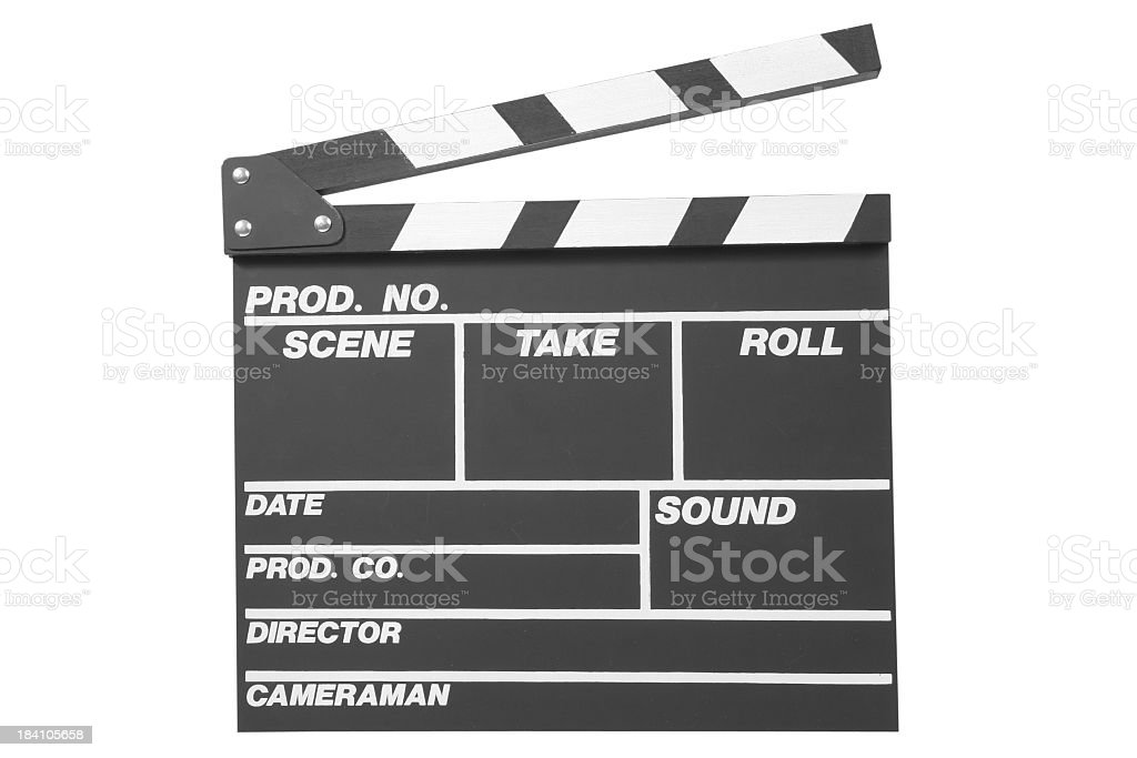 Black clapperboard royalty-free stock photo