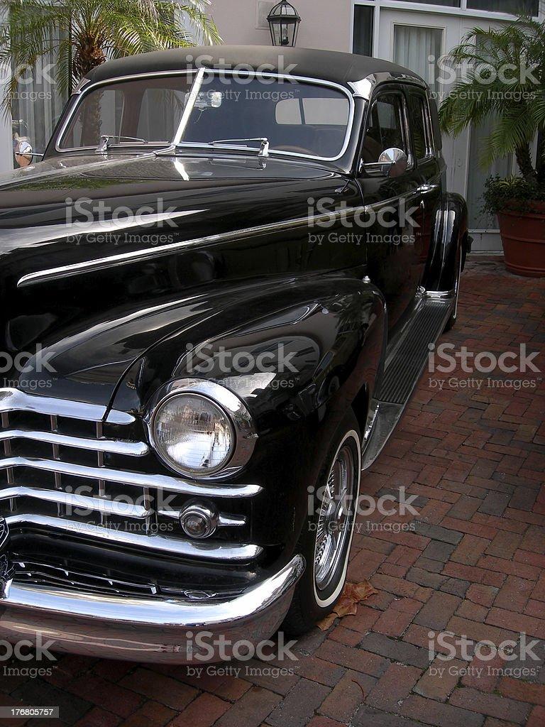 Black Classic Car royalty-free stock photo