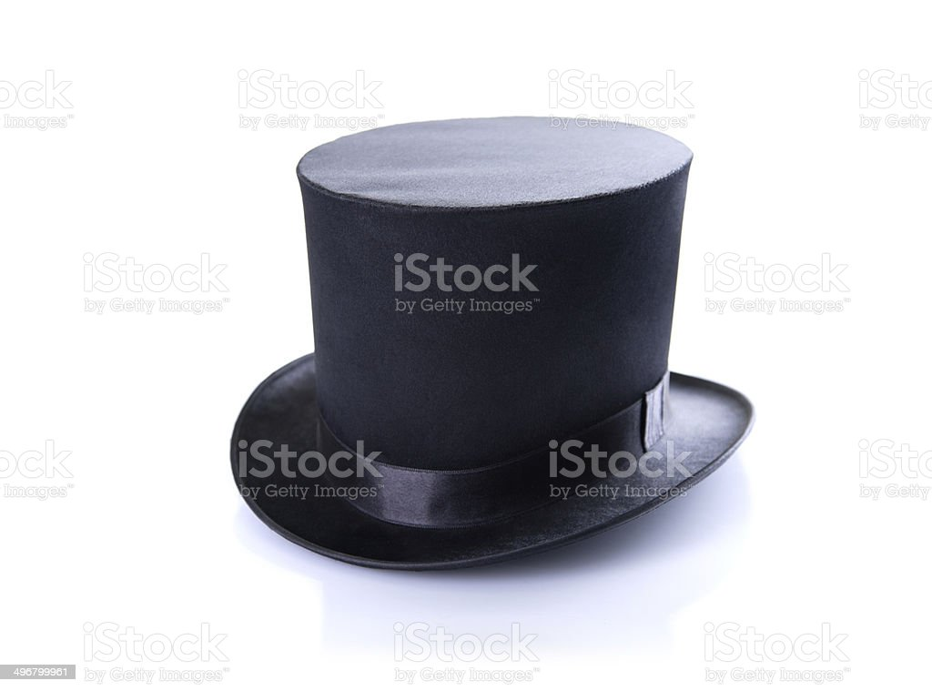 Black classic top hat stock photo