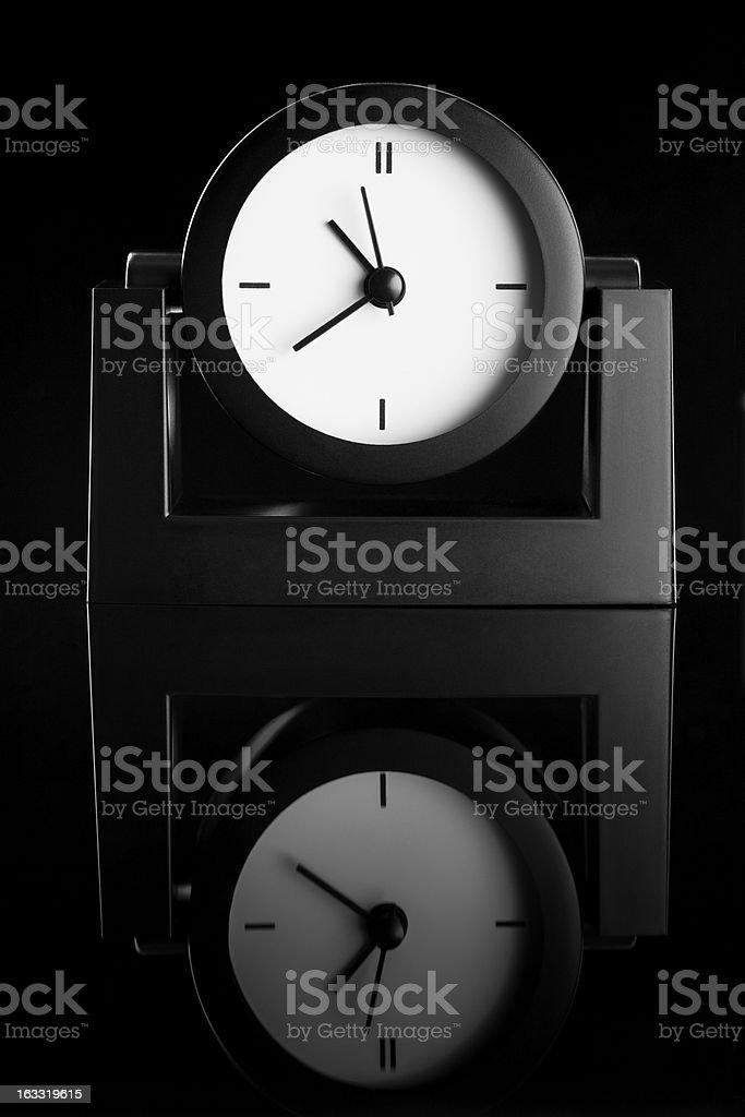 Black clock royalty-free stock photo