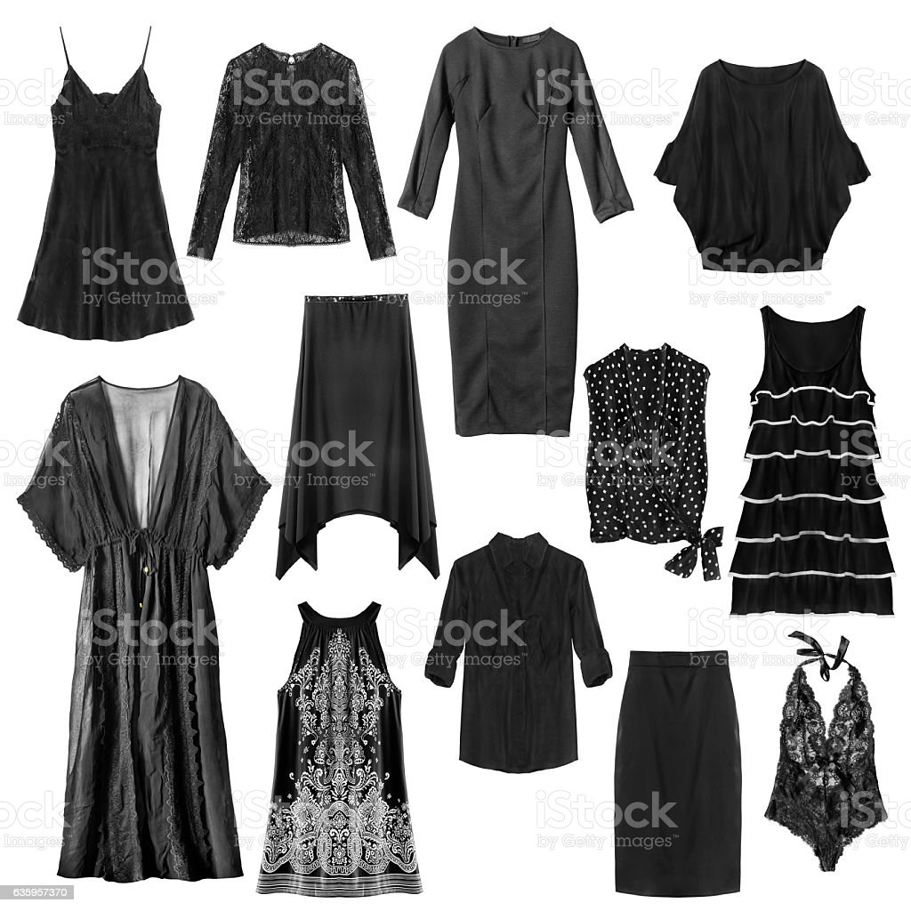 Black clothes isolated stock photo