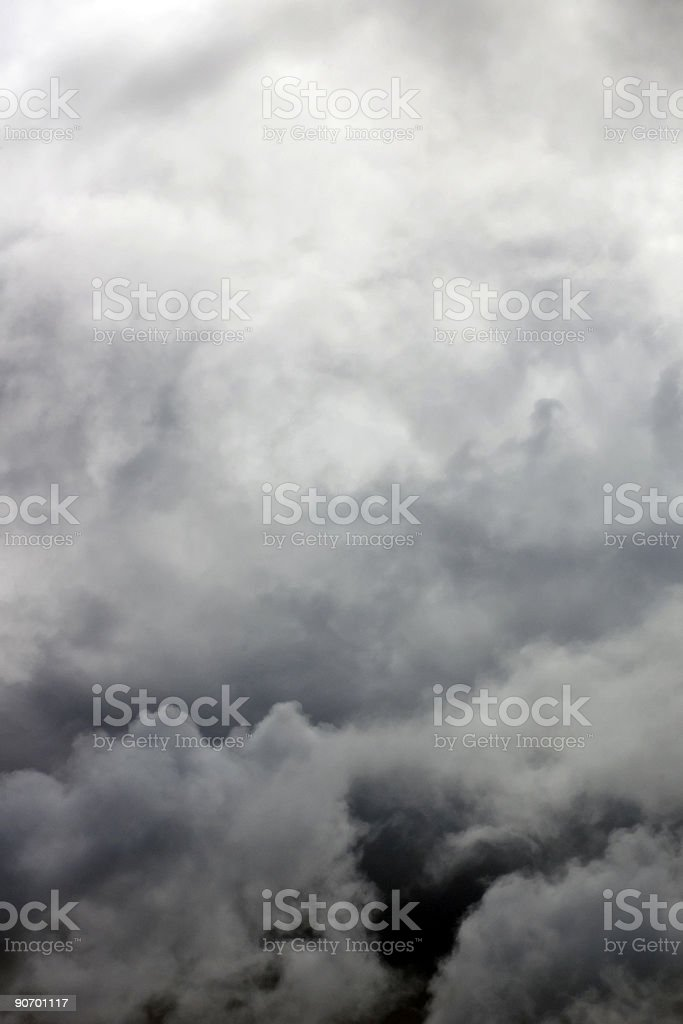 Black clouds royalty-free stock photo
