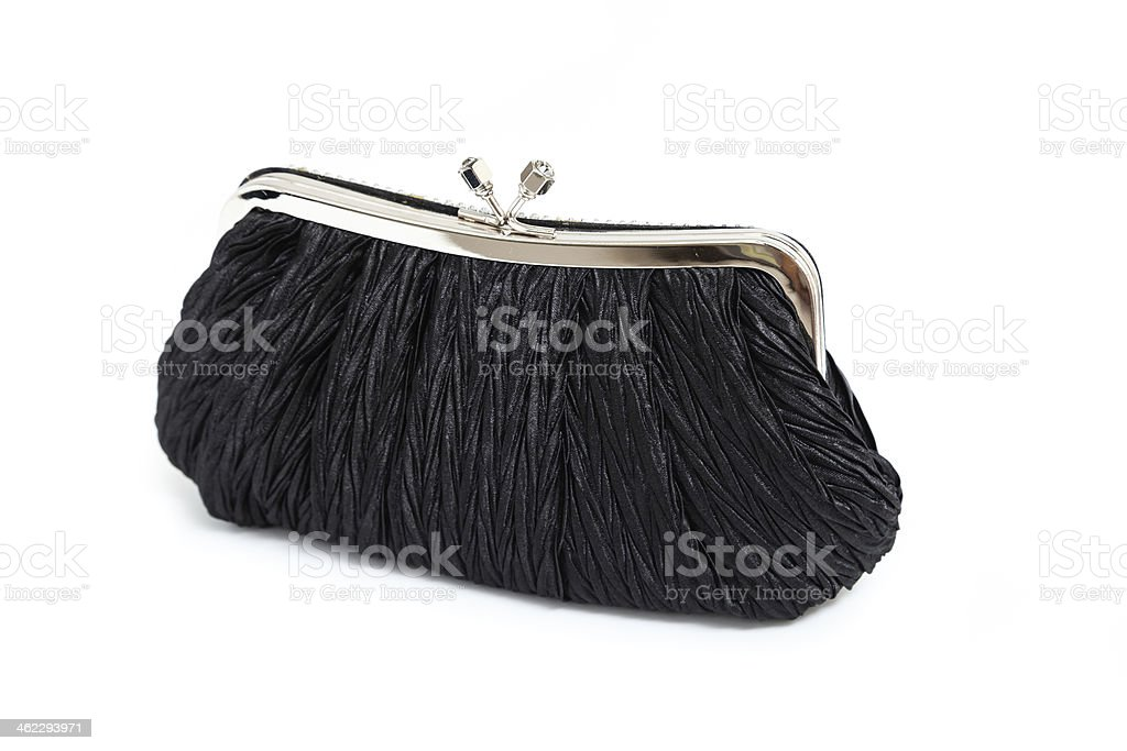 black clutch  Bag stock photo