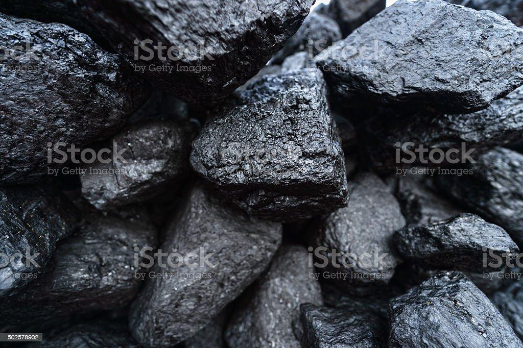 black coal stock photo