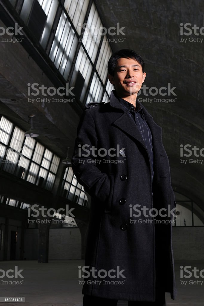 Black Coat Man - XLarge stock photo