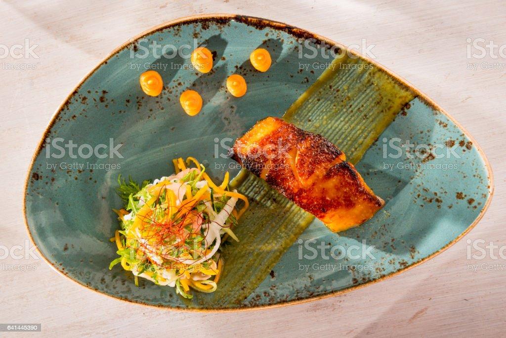 Black cod miso marinated stock photo