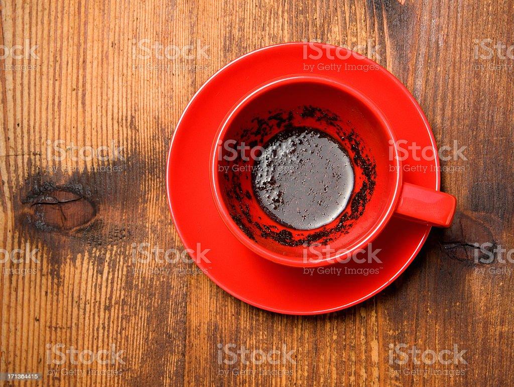 Black coffee- coffee grounds royalty-free stock photo