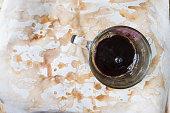 Black coffee in a glass