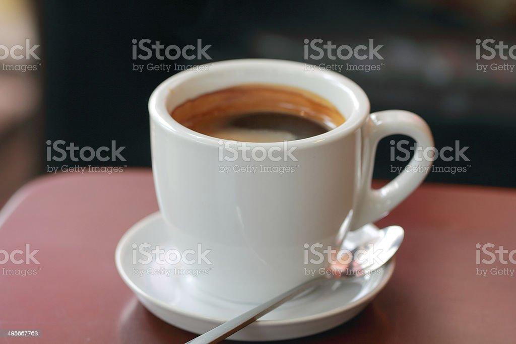 black coffee in white mug royalty-free stock photo