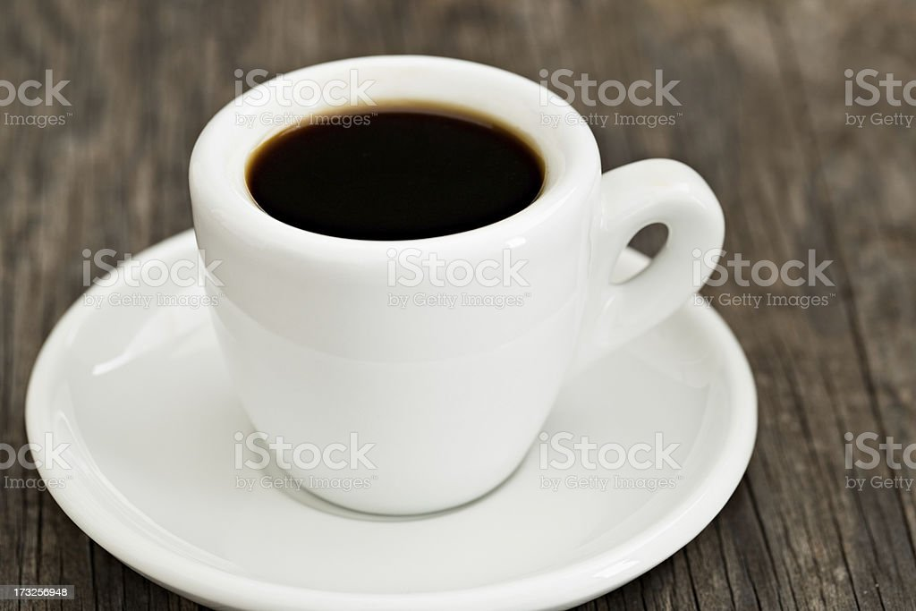 Black Coffee on The Veranda royalty-free stock photo