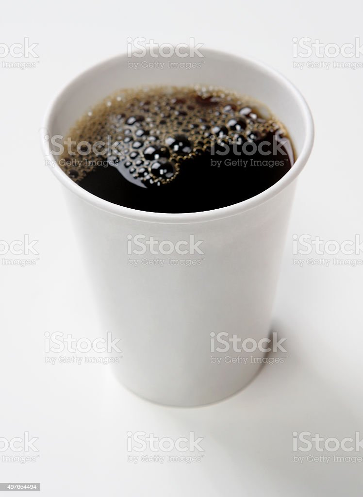 Black Coffee on White Background stock photo