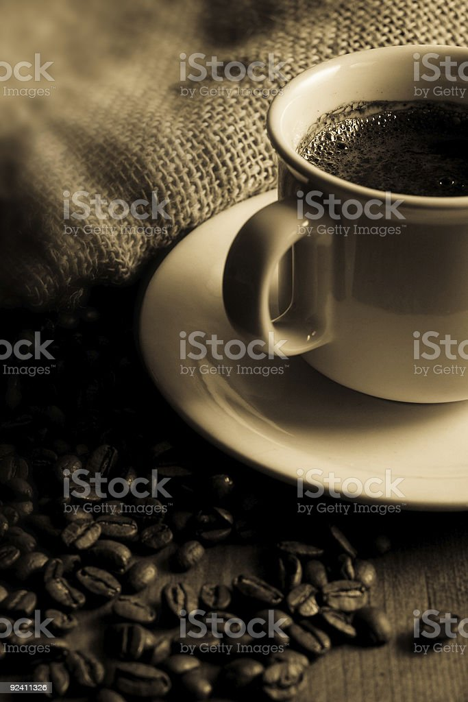 Black coffee royalty-free stock photo
