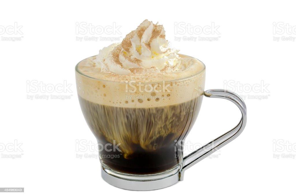 black coffee with cream stock photo