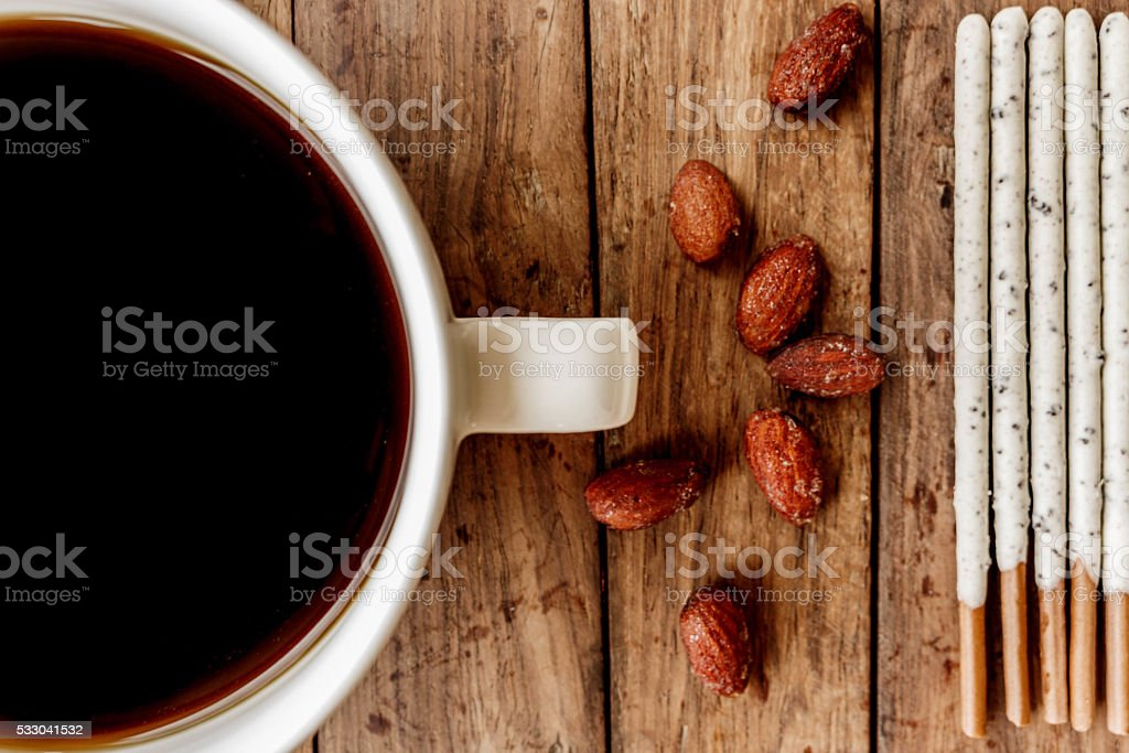 black coffee without sugar and milk for breakfast stock photo
