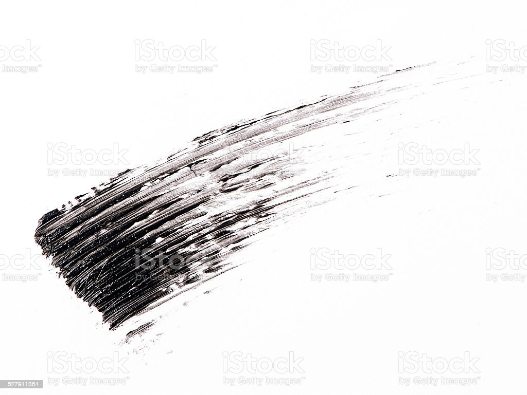 Black color Mascara brush stroke stock photo
