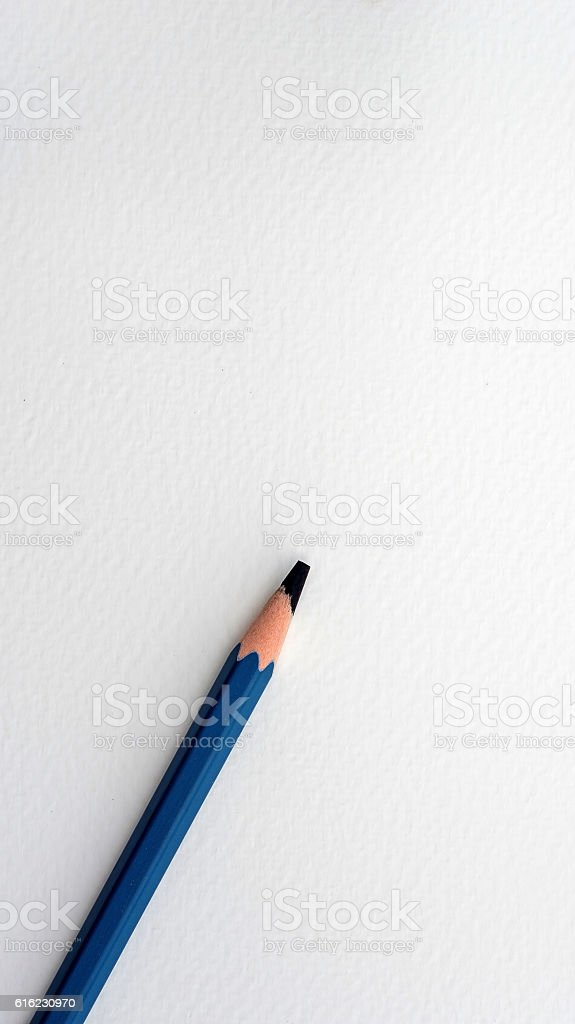 black color pencil on the paper drawings. stock photo