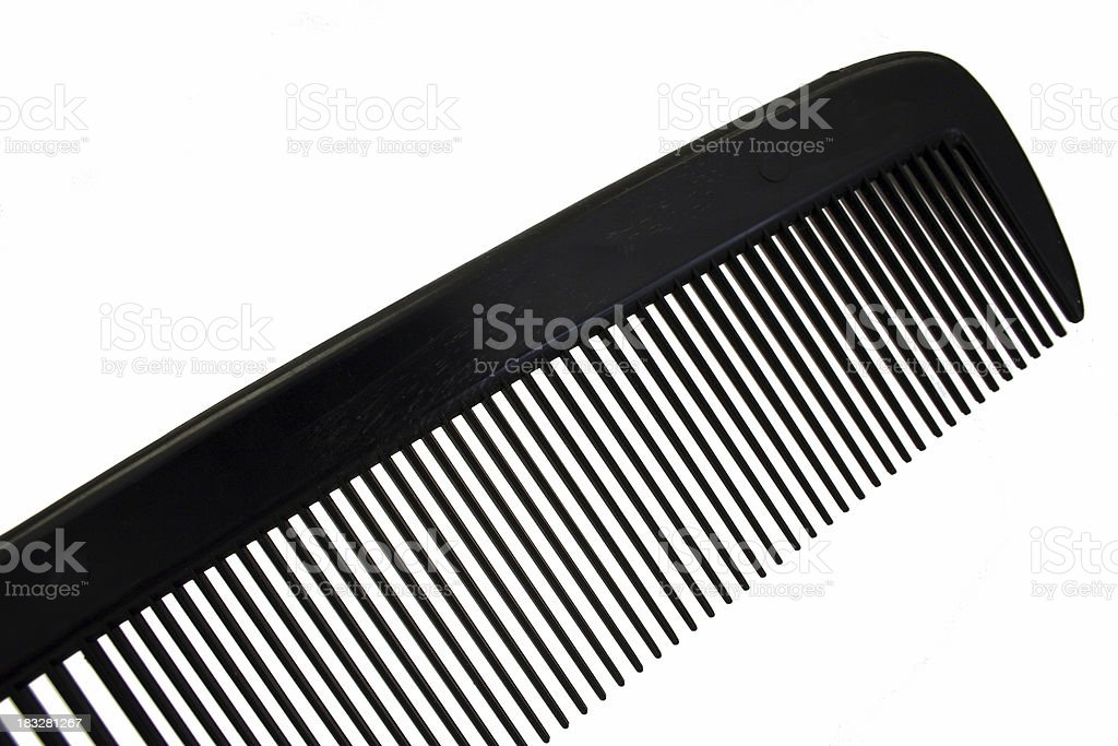 Black Comb Isolated royalty-free stock photo