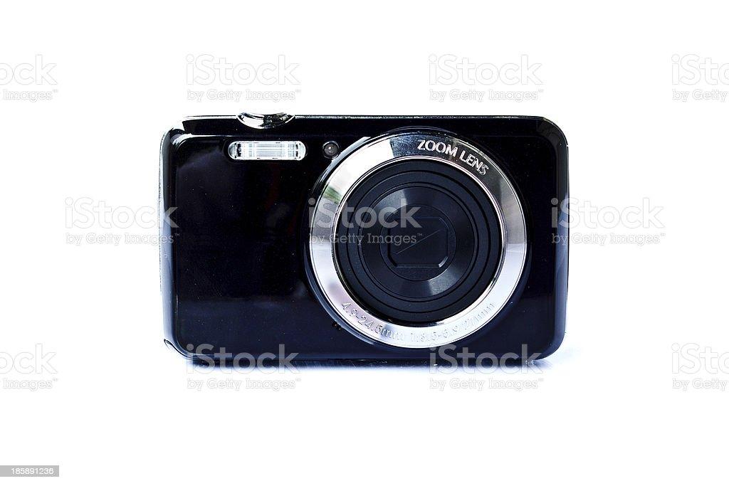 Black Compact Digital Camera royalty-free stock photo