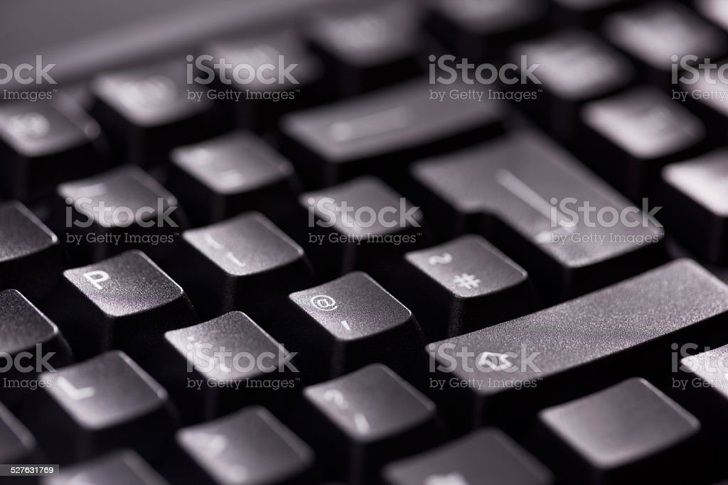 Black Computer Keyboard stock photo