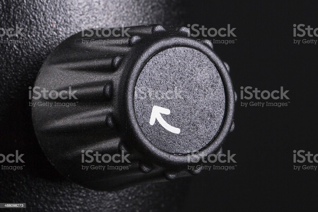 Black Control Button stock photo