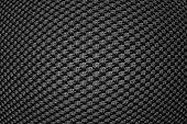 Black convex syntetic fiber.