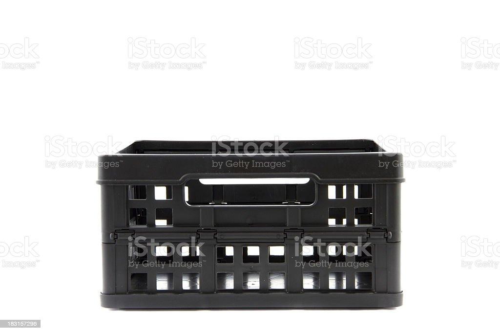 black crate stock photo