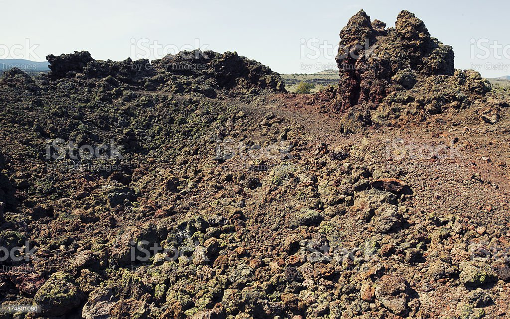 Black Crater at Lava Beds National Monument royalty-free stock photo