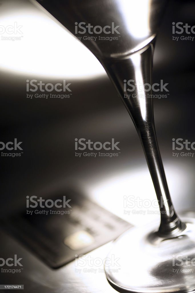 black credit card with martini royalty-free stock photo