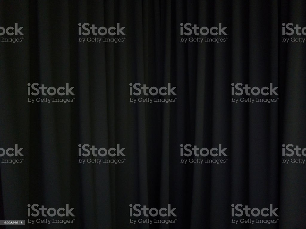 black curtain background scene stock photo