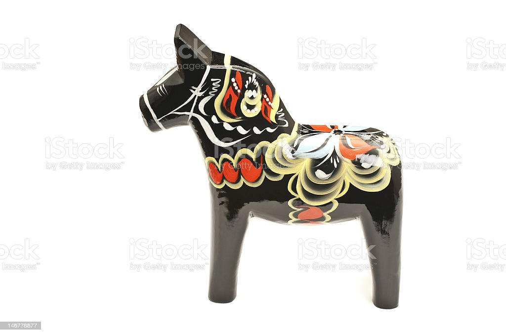 Black Dalahorse stock photo