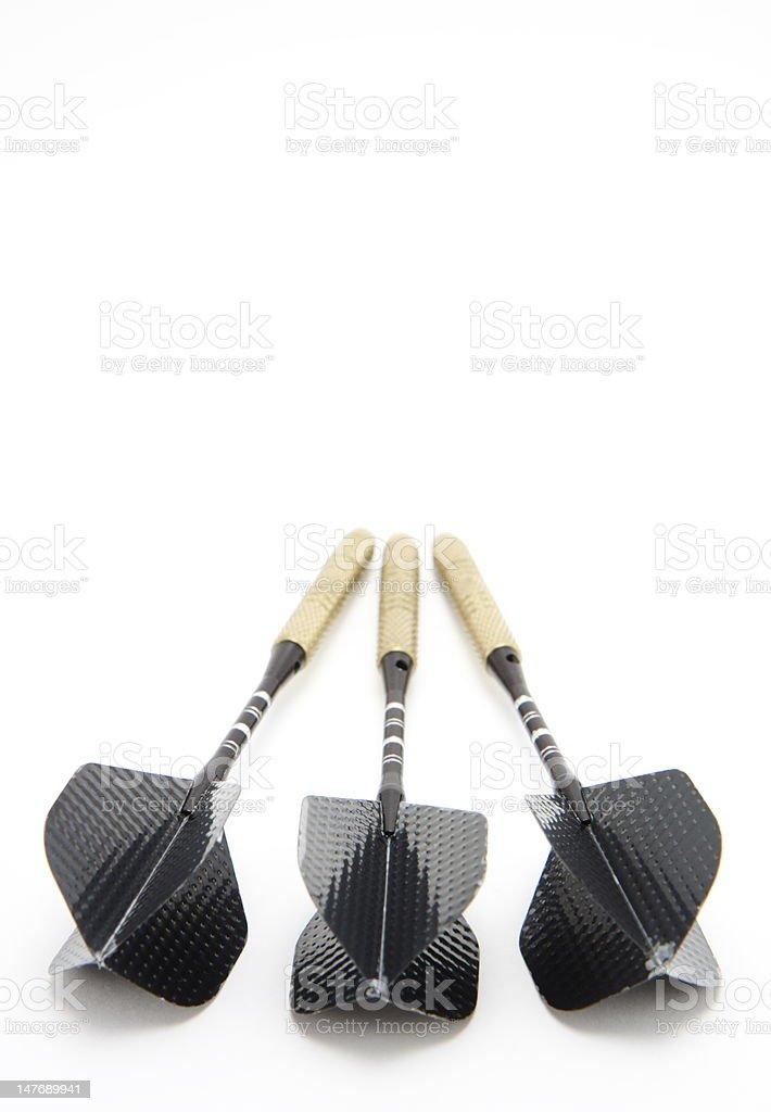 Black Darts royalty-free stock photo