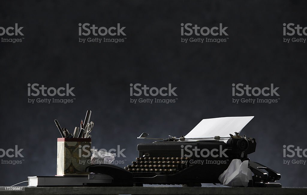 Black: Deadline stock photo