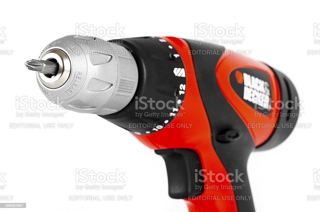 Black & Decker Cordless Power Drill stock photo