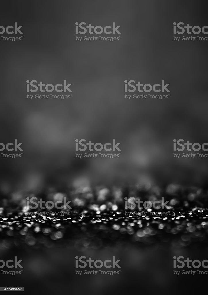 Black Defocused Bokeh twinkling lights Vintage background. Fes stock photo