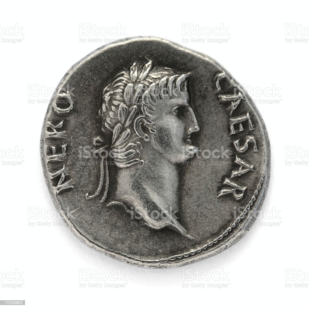 Nero - Denarius stock photo