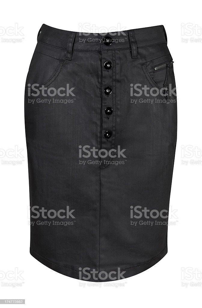 black denim skirt stock photo