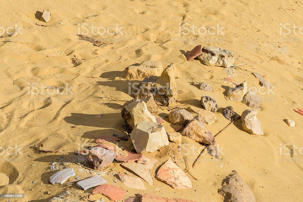 Black Desert of Egypt stock photo